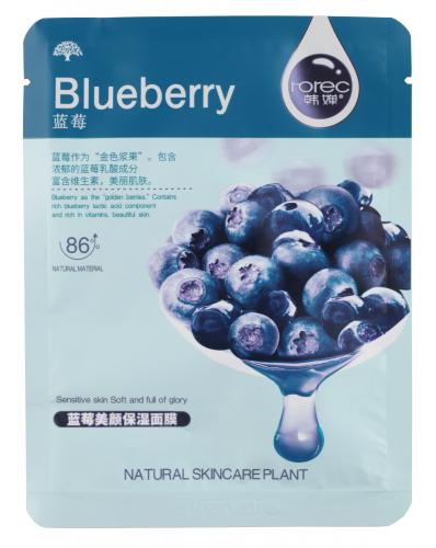 Rorec - Blueberry Natural Skin Care Mask - Nawilżająca maseczka w płacie z ekstraktem z jagód