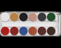 KRYOLAN - AQUACOLOR - Paleta 12 farb wodnych do malowania twarzy - ART. 1104 - B - B