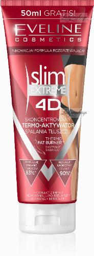 EVELINE - Slim Extreme 4D - Thermo Fat Burner - Antycellulitowe serum wyszczuplające - 200 ml + 50 ml