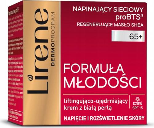 Lirene - Formuła Młodości - Liftingująco-ujędrniający krem do twarzy z białą perłą - 65 + Dzień - SPF15 - 50 ml
