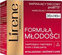 Lirene - Formuła Młodości - Nawilżająco-napinający krem do twarzy z białą perłą - 35+/45+ Dzień - 50 ml