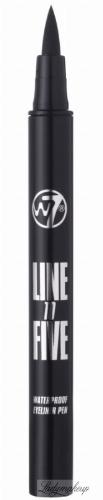 W7 - LINE TO FIVE WATERPROOF EYELINER PEN - Wodoodporny eyeliner w pisaku - BLACK