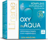 Lirene - OXY in AQUA - Smoothing oxygenating cream for sensitive skin - SPF30 - 50 ml
