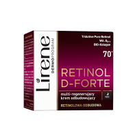 Lirene - RETINOL D-FORTE - Multi-regenerujący krem odbudowujący do twarzy - Noc - 70+