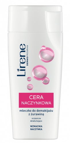 Lirene - Cleansing milk with cranberry for dilated capillaries - 200 ml