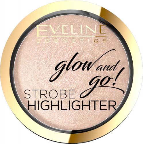 EVELINE - Glow and Go! Strobe Highlighter - Wypiekany rozświetlacz do twarzy