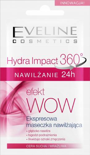 EVELINE - Hydra Impact 360 - Ekspresowa maseczka nawilżająca - Cera sucha i wrażliwa - 7 ml