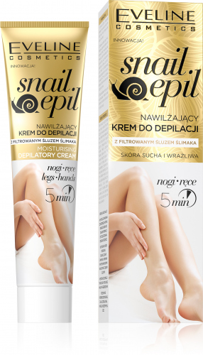 EVELINE - Snail Epil - Moisturizing depilatory cream for legs and hands with snail mucus - Dry and sensitive skin - 125 ml