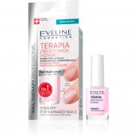 Eveline Cosmetics - NAIL THERAPY PROFESSIONAL - Intensywna kuracja wzmacniająco-odbudowująca dla zniszczonych paznokci - 12 ml