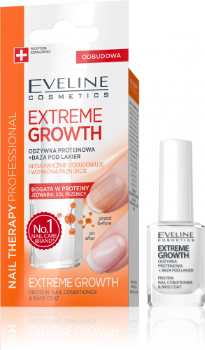 EVELINE - NAIL THERAPY PROFESSIONAL - EXTREME GROWTH - Protein supplement + Nail polish base - 12 ml