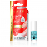 EVELINE - NAIL THERAPY PROFESSIONAL - KERATIN PRO - Odbudowująco-utwardzająca odżywka do paznokci - 5 ml