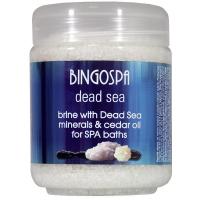 BINGOSPA - Solanka do kąpieli z minerałami z Morza Martwego i olejkiem cedrowym - 550g