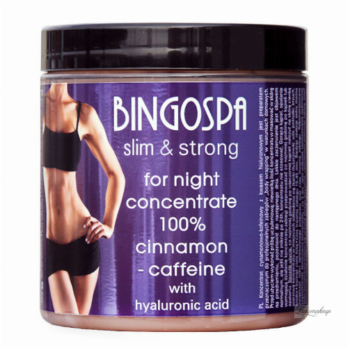"BINGOSPA - Cinnamon-caffeine concentrate with hyaluronic acid for ""body wrapping"" for night - 250g"