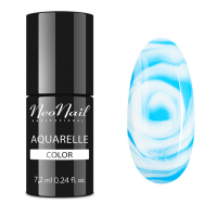 NeoNail - Aquarelle Color - Lakier Hybrydowy - 6 ml i 7,2 ml - 5512-7 - Blue Aquarelle - 5512-7 - Blue Aquarelle