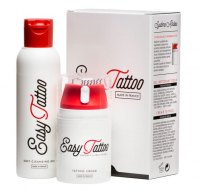 Easy Tattoo - Tattoo care kit - Cream 50 ml + Soft cleaning gel 125 ml