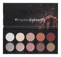 INGRID - MATT AND GLAM PALETTE - Paleta 10 cieni do powiek - NUDE