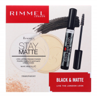 RIMMEL - BLACK & MATTE - Makeup cosmetics gift set - Ink + Powder