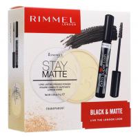 RIMMEL - BLACK & MATTE - Makeup cosmetics gift set - Ink + Powder