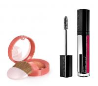 Bourjois - PARIS MON AMOUR - Zestaw prezentowy z kosmetykami do makijażu twarzy - Tusz + Róż