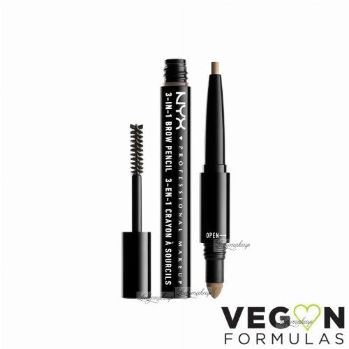 NYX Professional Makeup - SOURCILS 3IN1 BROW - Produkt 3w1 do makijażu brwi