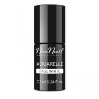NeoNail - Aquarelle Base - Baza pod Lakier Hybrydowy Aquarelle - 7,2 ml - WHITE - 5485-7 - WHITE - 5485-7