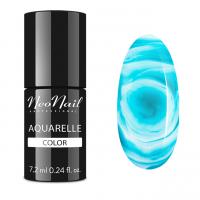 NeoNail - Aquarelle Color - Hybrid Varnish - 6 ml - 5513-1 - Emerald Aquarelle - 5513-7 - Emerald Aquarelle