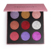 MAKEUP REVOLUTION - PRESSED GLITTER PALETTE - Palette of 9 pressed glitter - DIVA