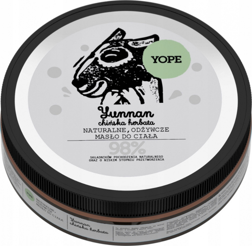 YOPE - NATURAL NUTRITIONAL BODY BUTTER - Yunnan - 200 ml