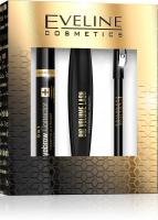 EVELINE - Cosmetics Gift Set - Eye Volume cosmetics gift set - Big Volume Lash Mascara + Eyeliner Pencil + Eyebrow Corrector 5in1