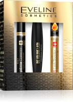 EVELINE - Cosmetics Gift Set - Zestaw prezentowy kosmetyków do makijażu oczu - Big Volume Lash Mascara + SOS Lash Booster + Eyebrow Corrector 5in1