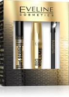 EVELINE - Cosmetics Gift Set - Zestaw prezentowy kosmetyków do makijażu oczu i brwi - Big Volume Explosion Mascara + Eyeliner Pencil + Art Scenic Eyebrow Corrector 3in1