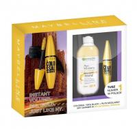 MAYBELLINE - Zestaw prezentowy kosmetyków - Tusz The Colossal + Płyn Micelarny z olejkiem Garnier