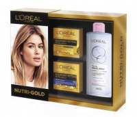 L'Oréal - NUTRI-GOLD - Gift set of face care cosmetics - Face oil-cream + Night cream mask + Micellar fluid