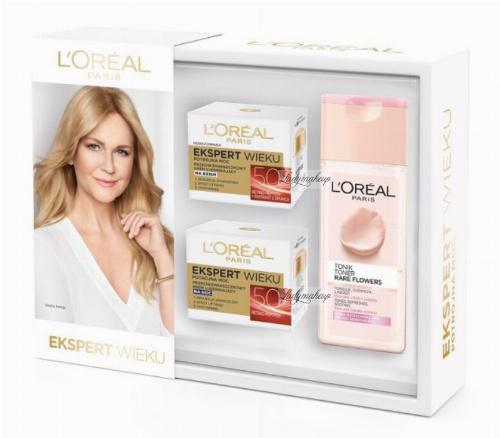 L'Oréal - EKSPERT WIEKU - Zestaw prezentowy kosmetyków do pielęgnacji twarzy