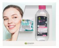GARNIER - Zestaw prezentowy kosmetyków do pielęgnacji twarzy - Lekki żel nawilżający + Płyn micelarny 3w1