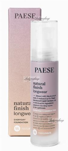 PAESE - Nanorevit - Natural Finish Longwear - Everyday Foundation - Podkład do twarzy