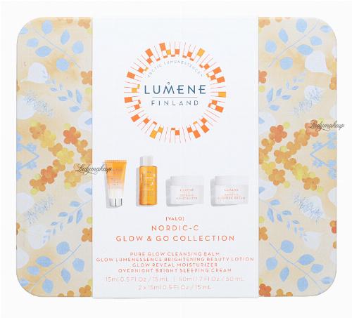 LUMENE - VALO - NORDIC-C GLOW & GO COLLECTION - Zestaw prezentowy kosmetyków do pielęgnacji twarzy
