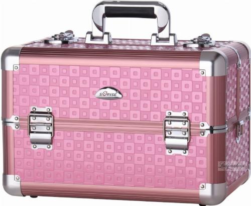SORISE - Kufer kosmetyczny - WT-425A-PN - PINK