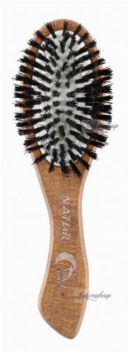 GORGOL - NATUR - Pneumatyczna szczotka do włosów z naturalnego włosia - 15 31 130 C