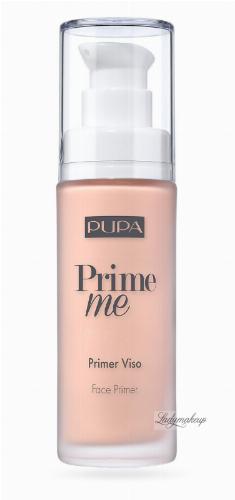 PUPA - Prime Me - Corrective Face Primer - Corrective make-up base - 30 ml