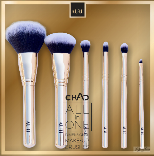 Auri - CHAD - ALL in ONE DIMENSIONAL MAKE-UP BRUSHES - Set of 6 make-up brushes