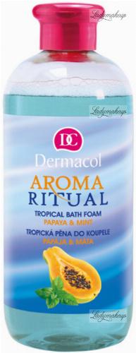 Dermacol - AROMA RITUAL - TROPICAL BATH FOAM - PAPAYA & MINT - Bath foam with papaya and mint scent - 500 ml