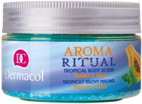Dermacol - AROMA RITUAL - TROPICAL BODY SCRUB - PAPAYA & MINT - Body scrub with papaya and mint scent