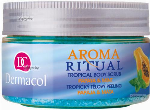 Dermacol - AROMA RITUAL - TROPICAL BODY SCRUB - PAPAYA & MINT - Scrub do ciała o zapachu papai i mięty