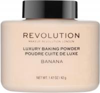 MAKEUP REVOLUTION - LUXURY BAKING POWDER - Sypki puder bananowy - 42 g