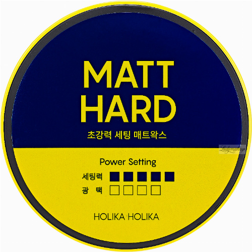 Holika Holika - BIOTIN - STYLE CARE ULTRA HOLDING MATT HARD WAX - Super strong wax for hair styling - 80 g