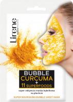 Lirene - NOURISHING BUBBLE SHEET MASK - CURCUMA + 11 SUPERFOODS - Super odżywcza maska bąbelkowa na płacie