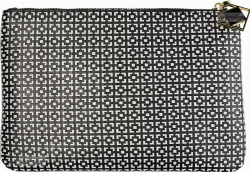 AURI - Clutch washbag vanity case - 444018 - Black & White - Medium