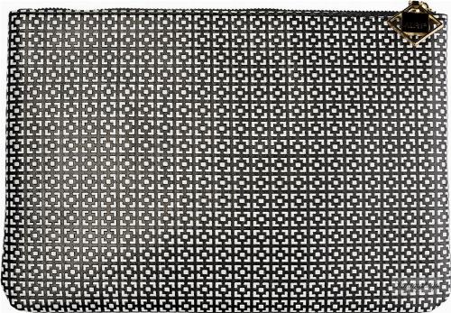 AURI - Clutsh bag cosmetic bag - 444017 - Black & White - Large