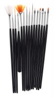 Inter-Vion - Set Of Brushes for Nail Art - Zestaw 15 pędzelków do zdobienia paznokci